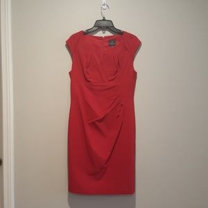 Red Adrianna Pappell dress